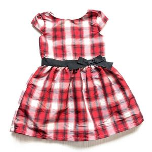 CARTER'S toddler red plaid dress size 4t